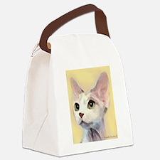 Devon Rex Cat Canvas Lunch Bag