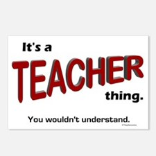 Teacher Thing Postcards (Package of 8)