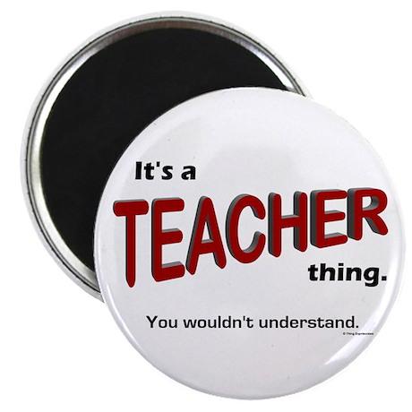 """Teacher Thing 2.25"""" Magnet (10 pack)"""