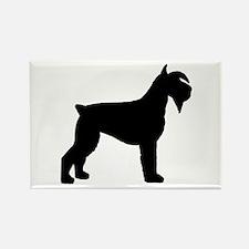 Schnauzer Dog Rectangle Magnet