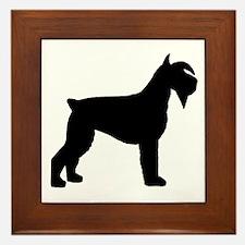 Schnauzer Dog Framed Tile