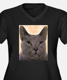 Russian Blue Cat Plus Size T-Shirt