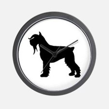 Stylized Schnauzer Dog Wall Clock