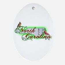 North Carolina Oval Ornament