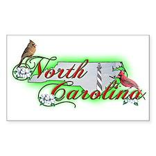 North Carolina Rectangle Decal