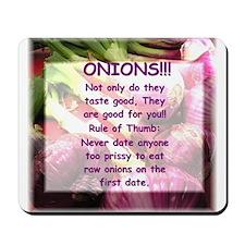 Mice Love Onions Too, Mousepad