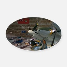 Edmonton: Alberta Aviation Museum  Oval Car Magnet