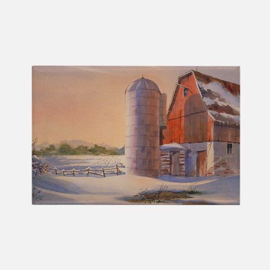 Winter's Harvest Rectangle Magnet