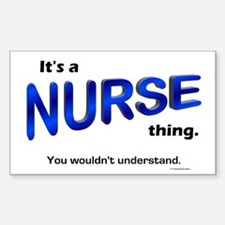 Nurse Thing Rectangle Decal