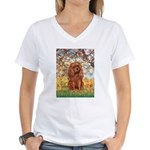 Spring and Ruby Cavalier Women's V-Neck T-Shirt