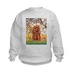 Spring and Ruby Cavalier Kids Sweatshirt