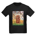 Spring and Ruby Cavalier Kids Dark T-Shirt