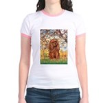 Spring and Ruby Cavalier Jr. Ringer T-Shirt