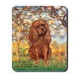 Spring and Ruby Cavalier Mousepad