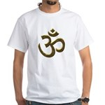 Buddha quote & Ohm White T-Shirt