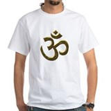 Buddhist Mens White T-shirts