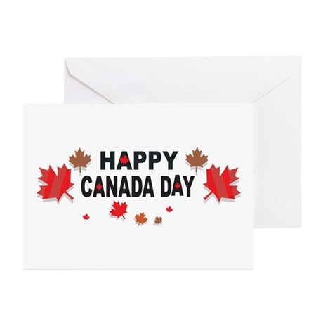 Happy Canada Day Greeting Cards Pk Of 10 By Shirt Gift Shop