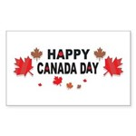 Happy Canada Day Rectangle Sticker