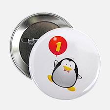 """Penguin 1st Birthday 2.25"""" Button"""