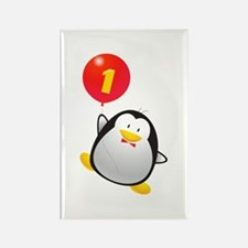 Penguin 1st Birthday Rectangle Magnet