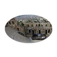 Acropolis. Ancient Theater of Hero Oval Car Magnet