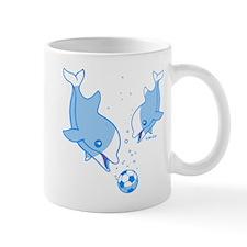 Soccer Dolphins (blue) Mug