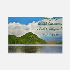 ISAIAH 43:2 Rectangle Magnet