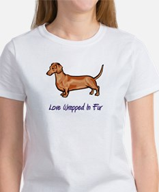 Dachsund - Love Wrapped In Fur Women's T-Shirt
