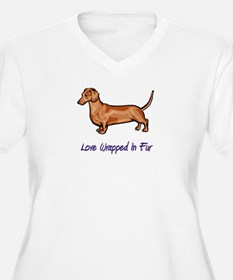 Dachsund - Love Wrapped In Fur T-Shirt