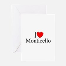"""I Love Monticello"" Greeting Cards (Pk of 10)"
