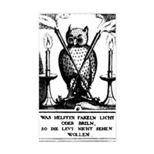 Alchemical Owl Diagram Rectangle Decal