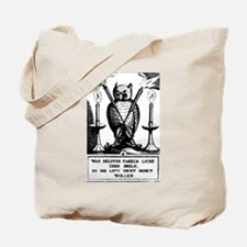 Alchemical Owl Diagram Tote Bag