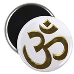 Golden Ohm Symbol Magnet
