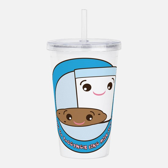 Cute Milk and cookies Acrylic Double-wall Tumbler