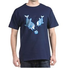 Soccer Dolphins (blue) T-Shirt