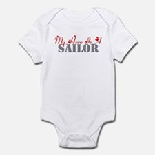My hero is a sailor Infant Bodysuit