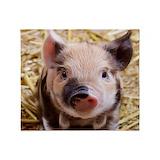 Cute pig Fleece Blankets
