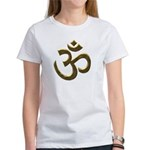 Golden Ohm & Buddha Quote Women's T-Shirt