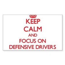 Keep Calm and focus on Defensive Drivers Decal