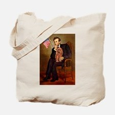 Lincoln's Ruby Cavalier Tote Bag