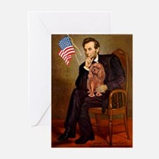 Lincoln's Ruby Cavalier Greeting Cards (Pk of 10)