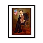 Lincoln's Ruby Cavalier Framed Panel Print