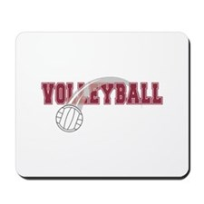 Volleyball Swoosh Graphic (red) Mousepad