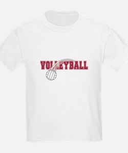 Volleyball Swoosh Graphic (red) T-Shirt