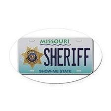 Cute Show me state Oval Car Magnet
