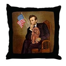 Lincoln's Ruby Cavalier Throw Pillow