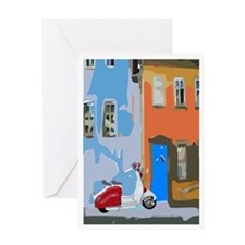 Retro Italian Street Greeting Cards