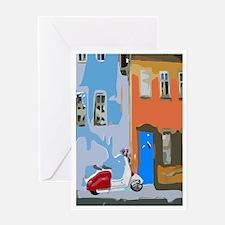 Retro Italian Street Greeting Cards