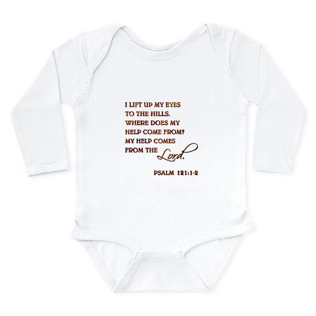 PSALM 121:1-2 Long Sleeve Infant Bodysuit