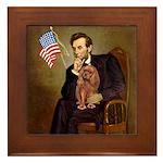Lincoln's Ruby Cavalier Framed Tile